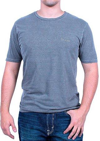 Camiseta Wrangler Masculina Chumbo Original