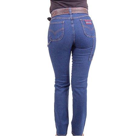 Calça Jeans Feminina carpinteira strech AlabamaHorse Bulls Azul Escuro
