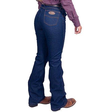 Calça Alabama Feminina Básica  Flare Strech indigo