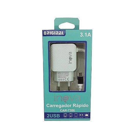 Carregador 3.1A Inova Car-7306