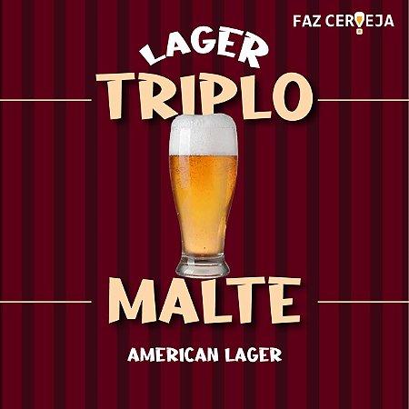 Kit Receita Lager Triplo Malte - American Lager