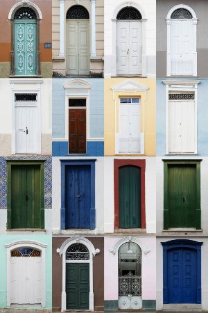 Quadro Decorativo Portas