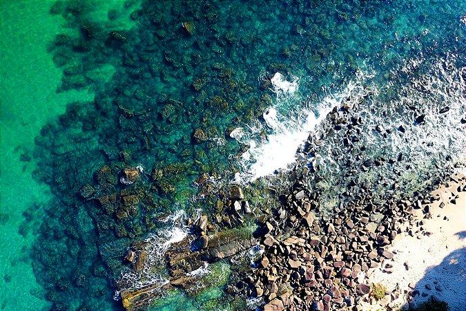 Quadro Decorativo Pedras e Mar