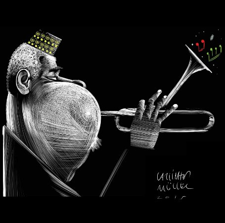 Quadro Decorativo Dizzy Gillespie