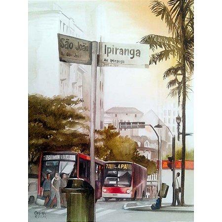 Quadro Decorativo Avenida Sao Joao com a Avenida Ipiranga