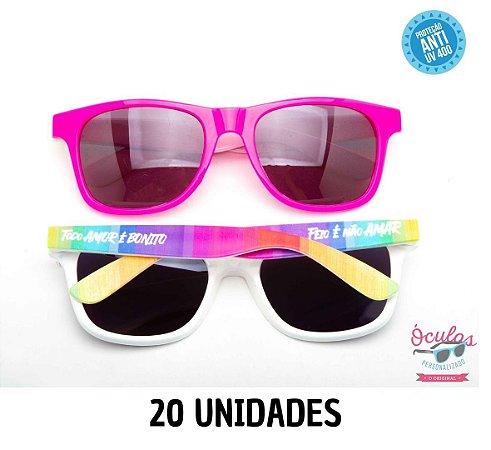 Óculos Personalizado Multicolor -       20 unidades