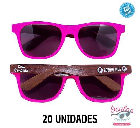 Óculos Personalizado Wood - 20 unidades