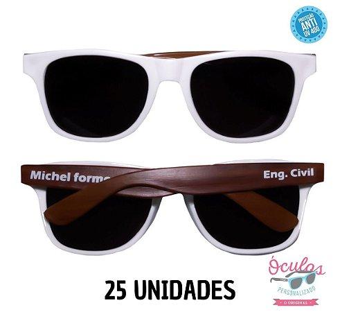 Óculos Personalizado Wood - 25 unidades