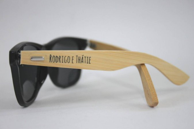 Óculos de Sol  Hastes de Bambu PERSONALIZADO - Anti UV400