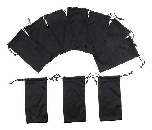Saquinho Case de Microfibra Preto para Óculos - unidade