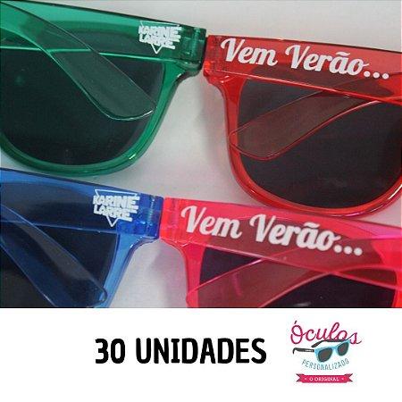 ÓCULOS PERSONALIZADO CRISTAL LINE - 30 UNIDADES