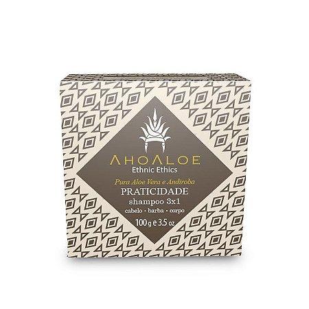 Shampoo sólido 3x1 PRATICIDADE - AhoAloe