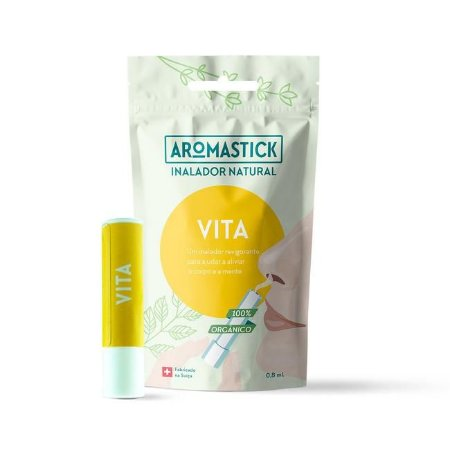Aromastick Vita - Inalador Nasal Orgânico & Natural para Dor