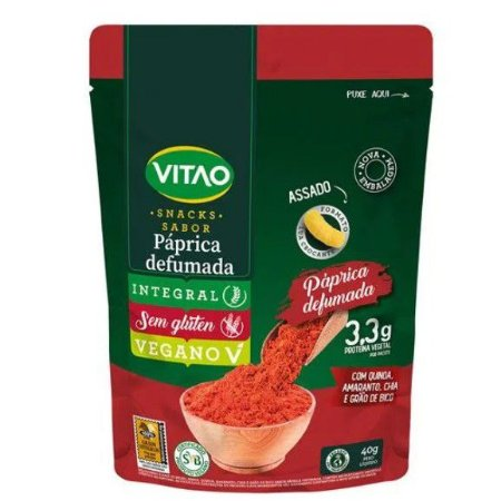 Snacks Sabor Páprica Defumada Vegano 40g