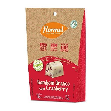 Bombom Branco com Cranberry Vegano 75g - flormel