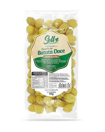 Snack de Batata Doce sabor Açafrão Vegano 50g