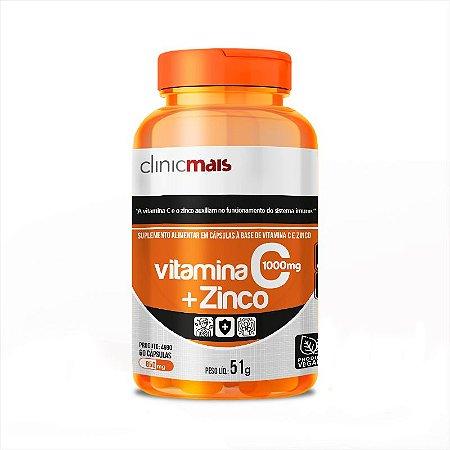 Vitamina C + Zinco Vegano 60caps 1000mg