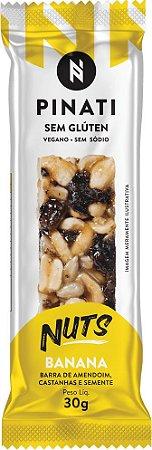Barra Pinati Nuts Banana Vegano 30g - Super Saúde