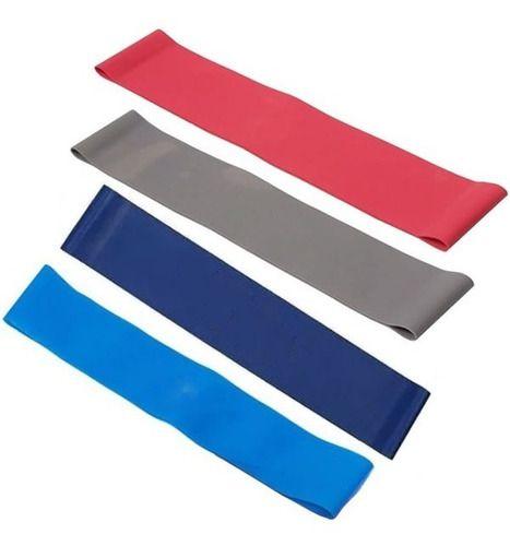 Kit 4 Mini Band - Lequipo - Faixa Elástica Circular Pilates Yoga