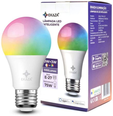 Lâmpada Smart LED RGB 10w+3w