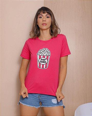 T-Shirt Season Colors Rosa Pink Pop Corn