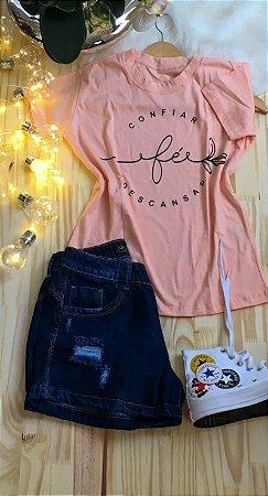 T-Shirt Dream Colors Salmao Fé