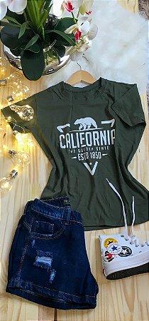 T-Shirt Dream Colors Verde Escuro Califórnia