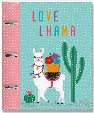 Caderno Argolado - Lhama - Fina Ideia