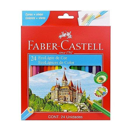 Ecolápis de cor Faber-Castell - Caixa com 24 Cores