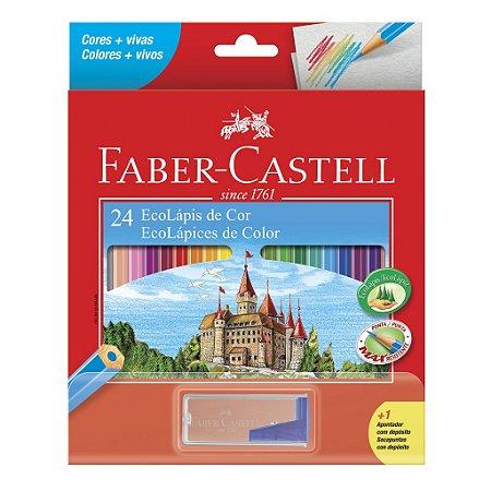 Lápis de Cor 24 Cores EcoLápis + Apontador Faber-Castell