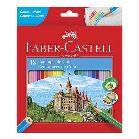 Lápis de Cor 48 cores sextavado Faber-Castell