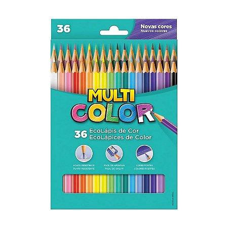Lápis De Cor Multicolor 36 Cores Sextavado - Faber-Castell