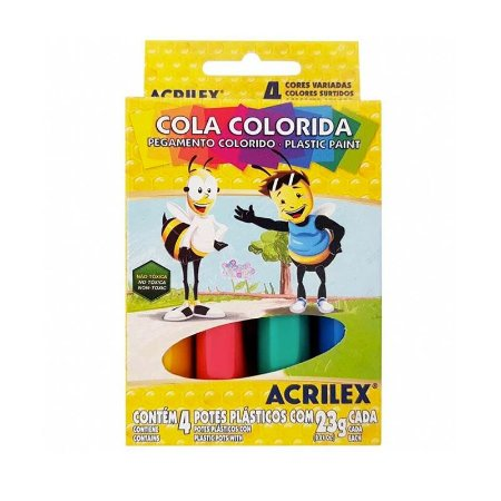 Cola Colorida 4 Cores Acrilex