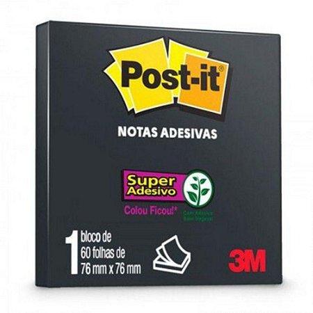 Notas Adesivas Post-it Preto 60 Folhas de 76 mm x 76 mm