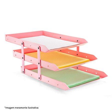 Caixa para correspondência - Tripla Móvel - Rosa - Maxcril