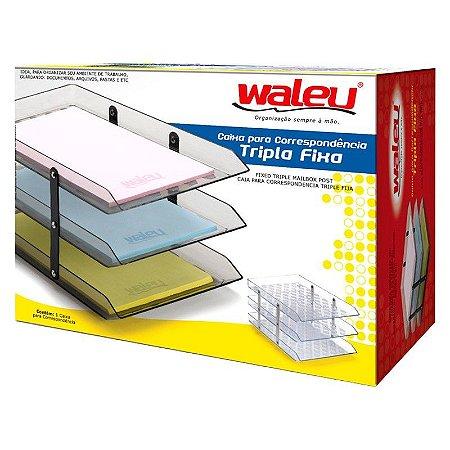 Caixa para correspondência - Tripla Fixa - Waleu