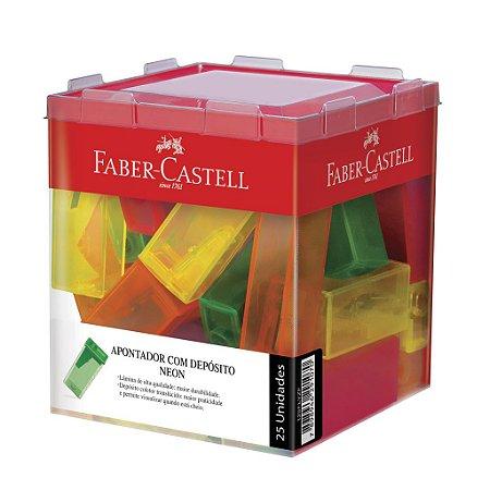 Apontadores com deposito sacapuntas Neon- Faber-Castell