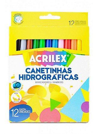 Canetinhas Hidrográficas - Acrilex 12 un