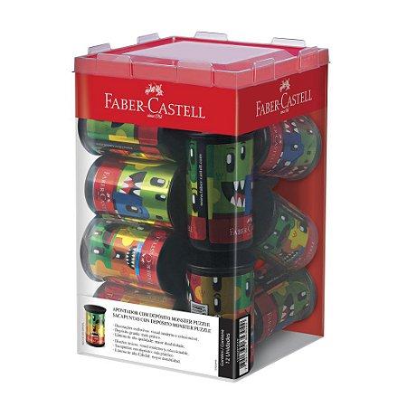 Apontador com depósito Monster Puzzle - Faber-Castell