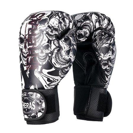 Luva Boxe Muay Thai Fheras Top Caveira Branca - Fheras