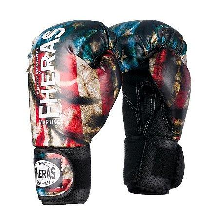 Luva De Boxe Muay Thai Kick boxing Fheras - Bandeira EUA