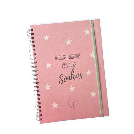 Planner PLANEJE SEUS SONHOS - Rosa Candy (Tamanho A4)