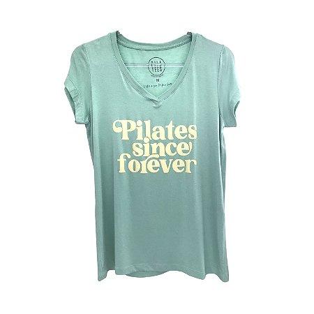 T-shirt PILATES SINCE FOREVER - Verde Aqua