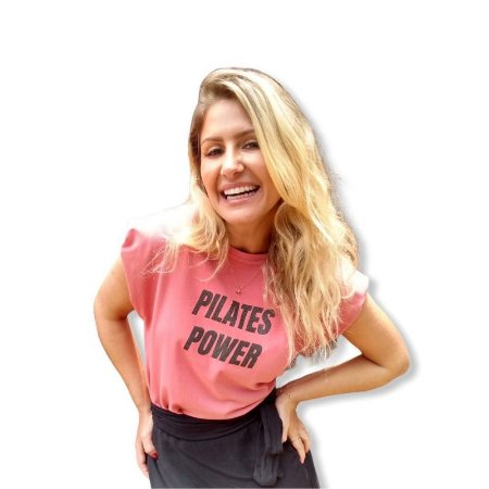Muscle Tee PILATES POWER - Burnt Coral