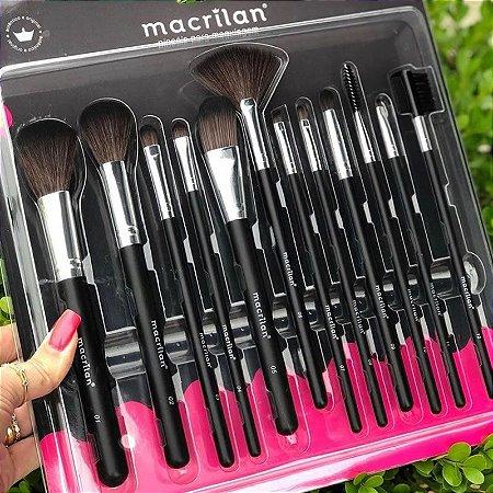 Kit Com 12 Pinceis Macrilan KP9-1A