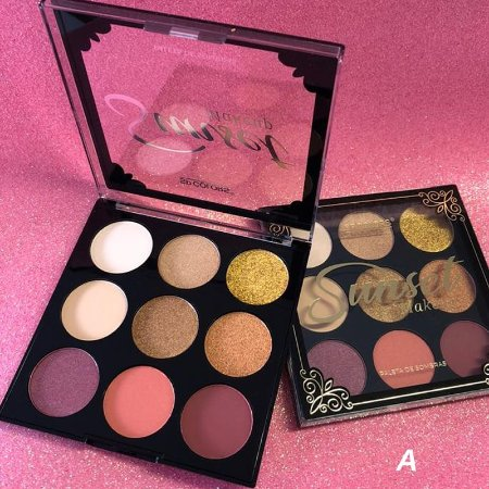 Paleta De Sombra Sunset Makeup 9 Cores SP Colors