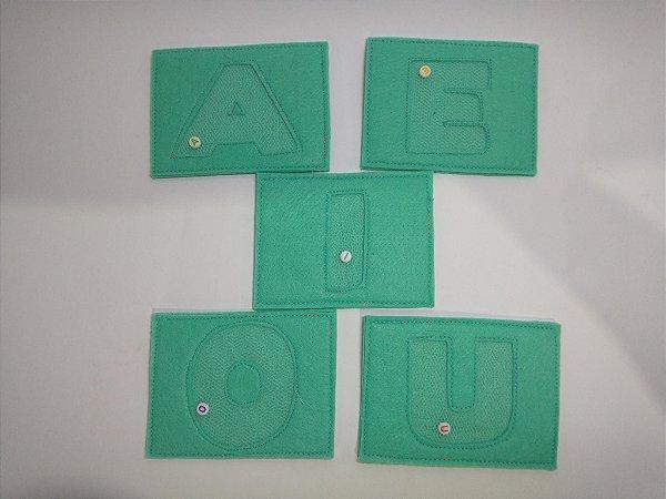 Kit vogais sensoriais (acompanha card)
