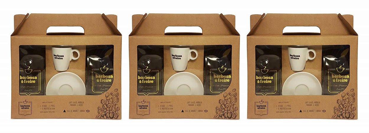 Combo com 3 Kits Café Arábica Barbosa e Freire