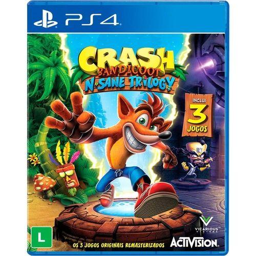 Jogo Game Crash Bandicoot N'Sane Trilogy - PS4