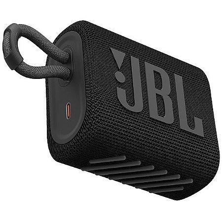 Caixa de Som JBL Go 3 Preta - Bluetooth